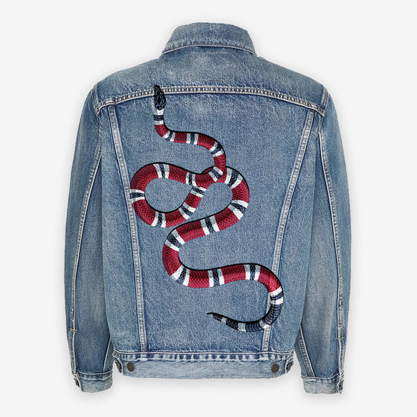 Customized Levi's Vintage Jacket Snake