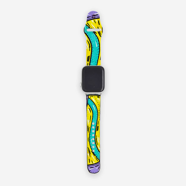 Customized Apple Watch Band Cartoon Sketched Vans
