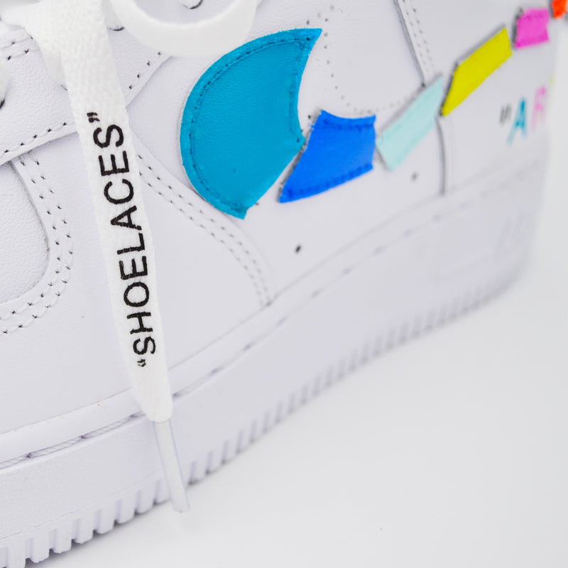 Customized Air Force 1 Destroyed Art Swoosh