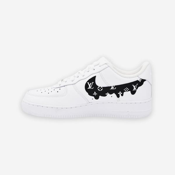 Customized Air Force 1 LV Black Drip
