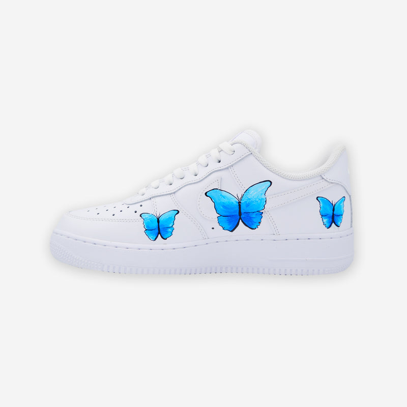 Customized Air Force 1 Butterfly Blue Paint