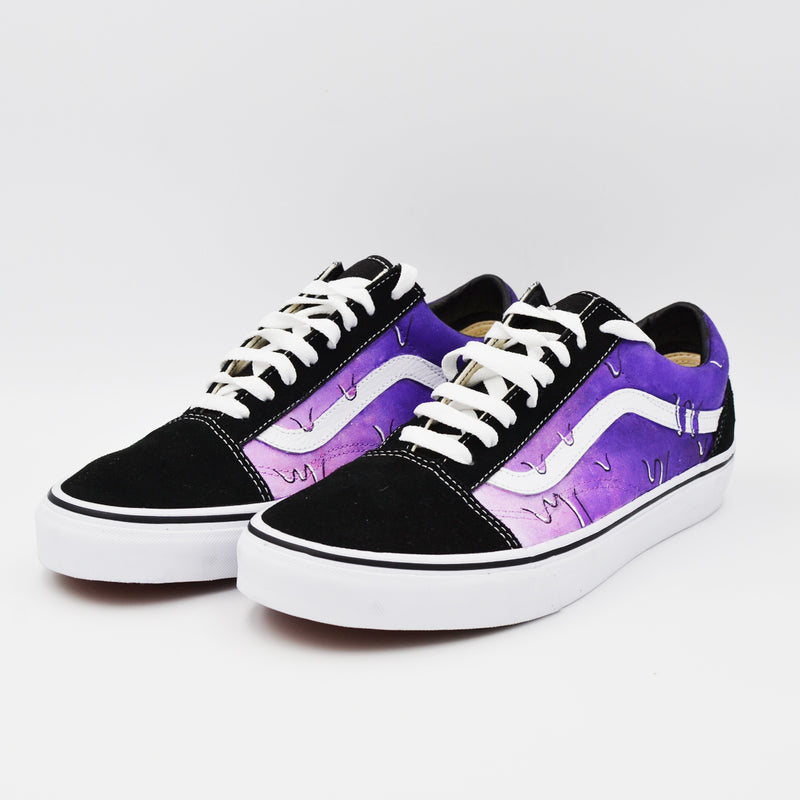 Customized Old Skool Purple Drip