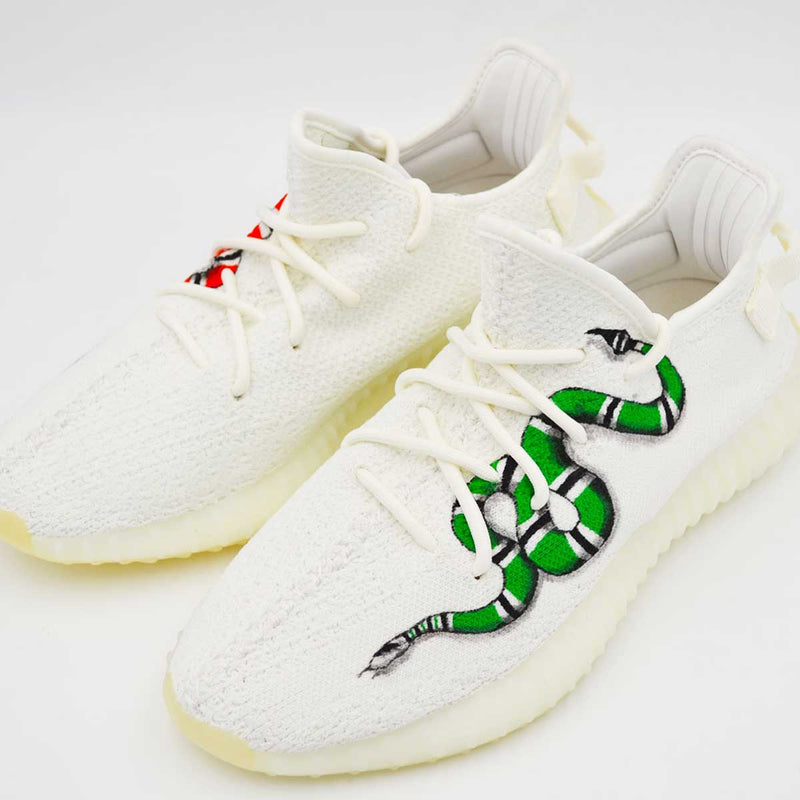 Customized Yeezy Cream Snake