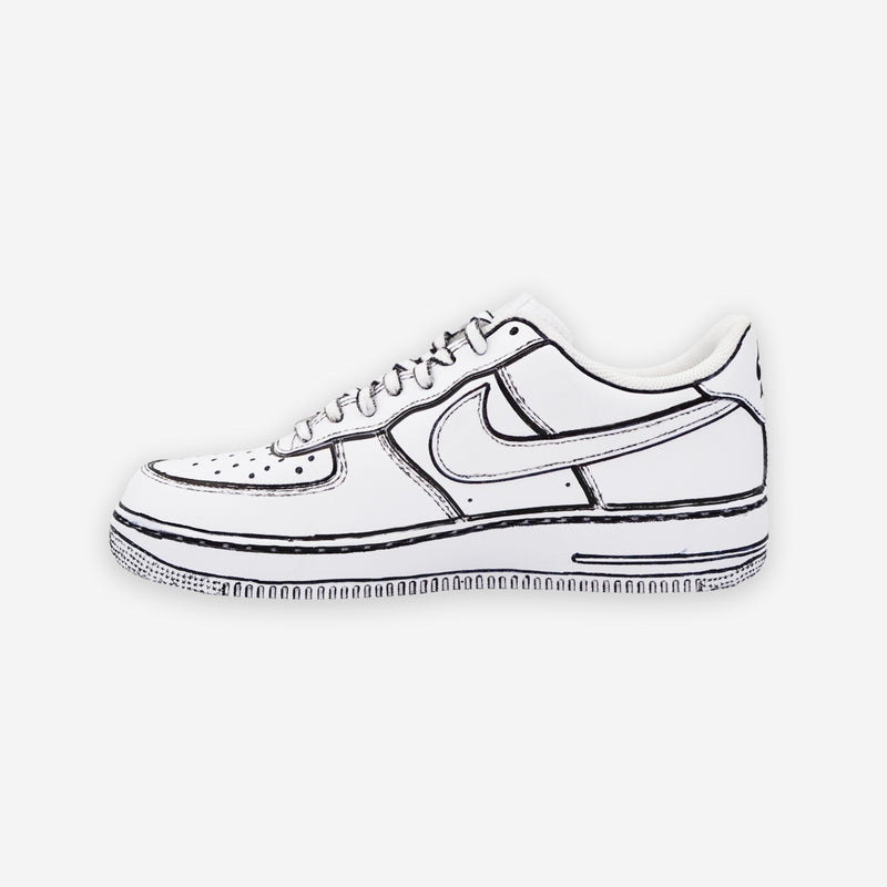 Customized Air Force 1 Sketched