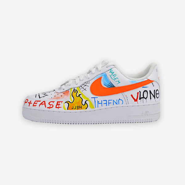 Customized Air Force 1 Graffiti Art