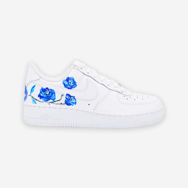 Customized Air Force 1 Blue Roses