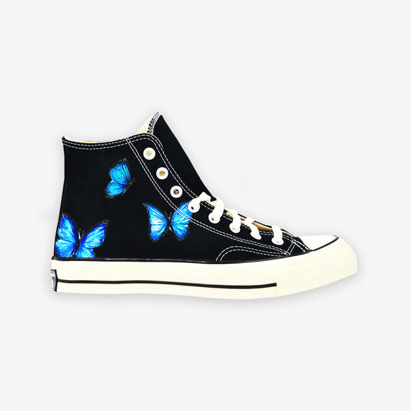 Customized Chuck Taylor Blue Butterfly