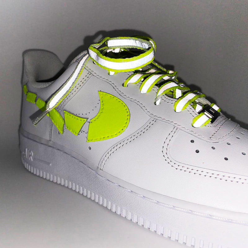 Customized Air Force 1 Destroyed Fluo