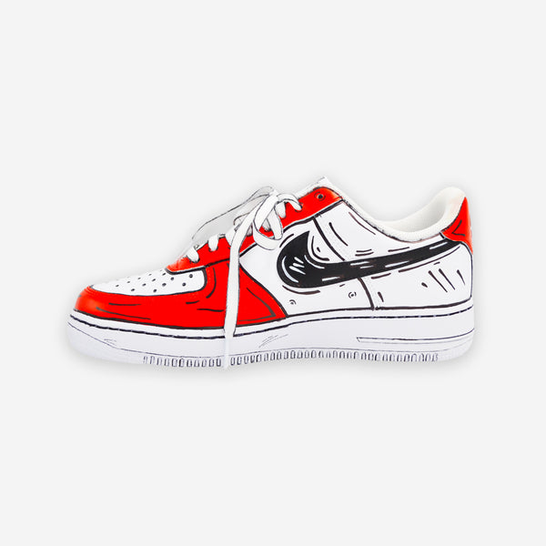 Customized Air Force 1 Cartoon Sketched