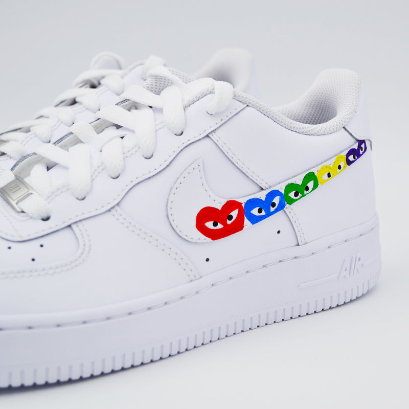 Customized Air Force 1 CDG Swoosh