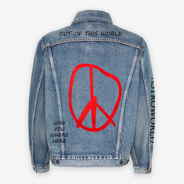 Customized Levi's Vintage Jacket Travis Scott