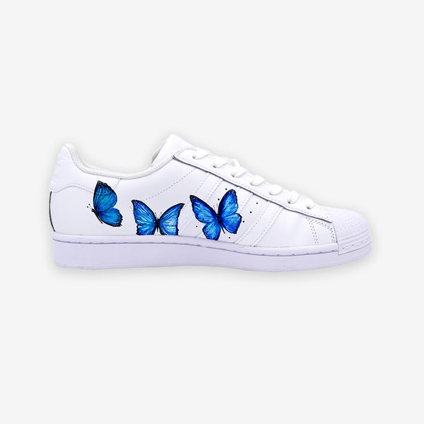 Customized Superstar Blue Butterfly
