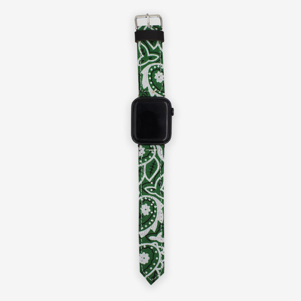 Customized Apple Watch Green Bandana