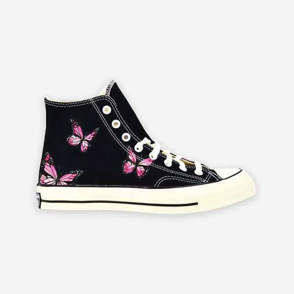 Customized Chuck Taylor Pink Butterfly