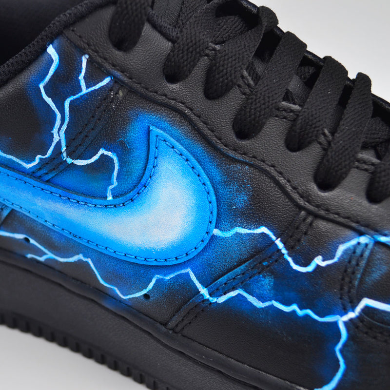 Customized Air Force 1 Black Storm