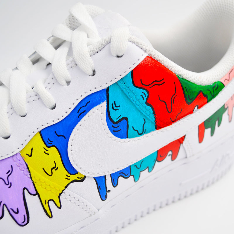 Customized Air Force 1 Multicolor Drip