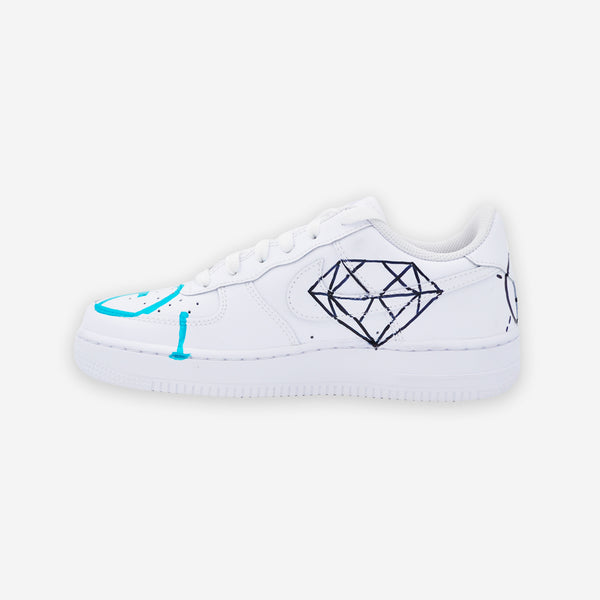 Customized Air Force 1 GG Ghost Trouble Andrew