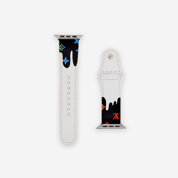 Customized Apple Watch Band Multicolor LV Drip