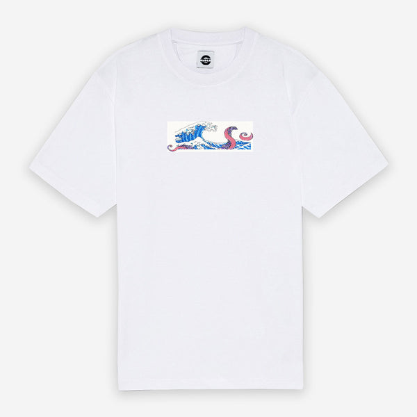 Customized T-Shirt Box Logo Wave Octopus