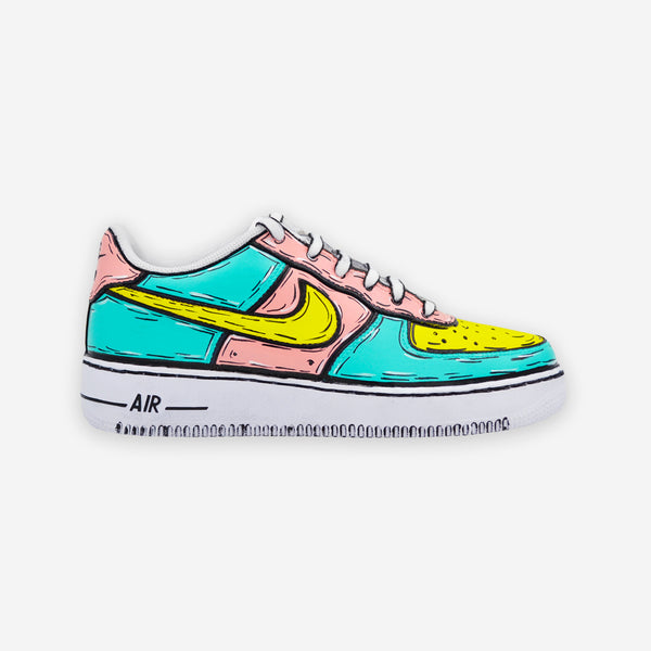 Customized Air Force 1 Pink Cartoon