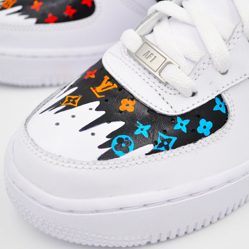Customized Air Force 1 Multicolor LV Drip
