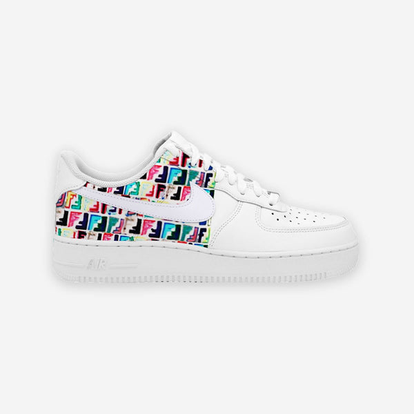 Customized Air Force 1 Blackboard Fendi