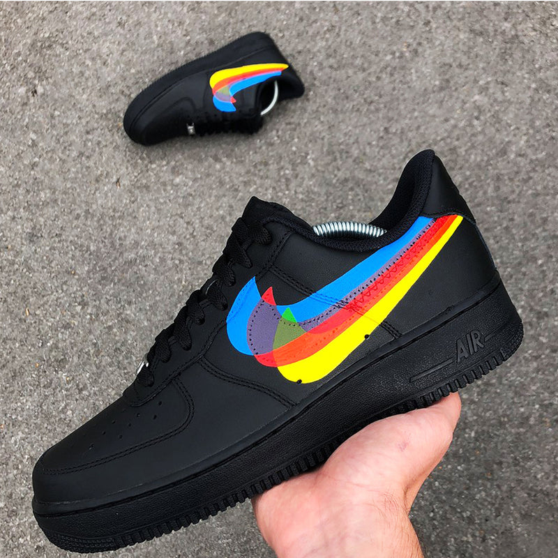 Customized Air Force 1 Multicolor Swoosh