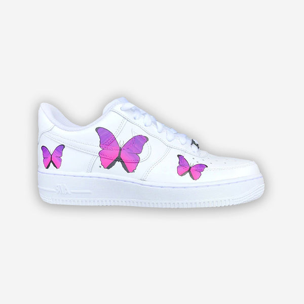 Customized Air Force 1 Butterfly Purple Paint