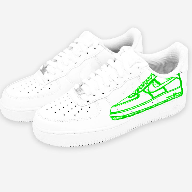 Customized Air Force 1 Shoes Prototype