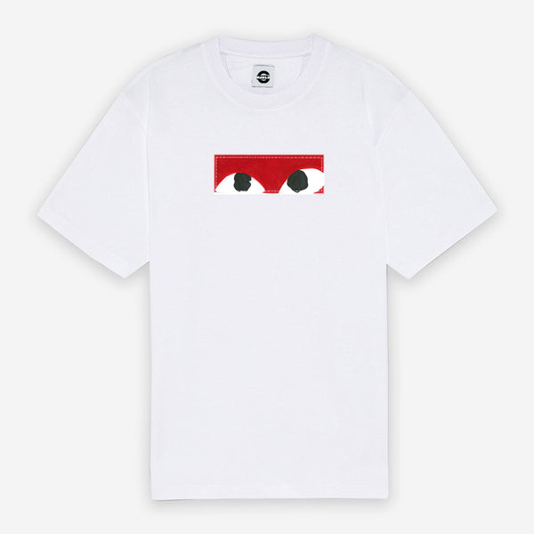 Customized T-Shirt Box Logo Red CDG