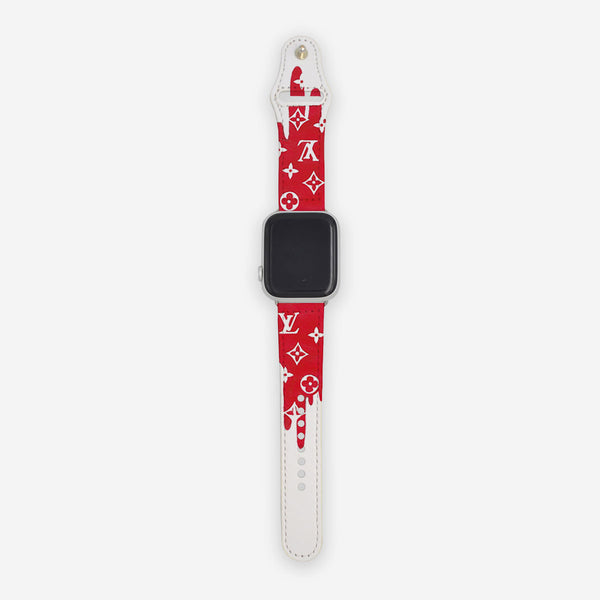Customized Apple Watch Band LV Red Drip