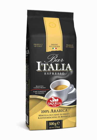 Bar Italia 100% Arabica - Whole beans 500 gr. bag