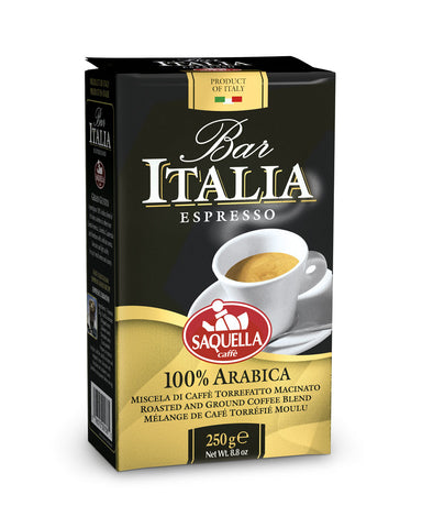 Bar Italia 100% Arabica-Ground Coffee 250 gr.