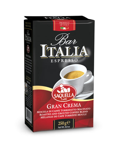 Bar Italia Gran Crema - Ground Coffee 250 gr.