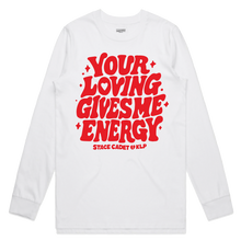 Load image into Gallery viewer, 'Energy' White Long Sleeve T-Shirt