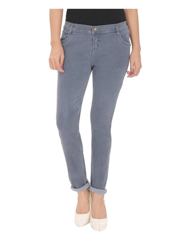 Slim Fit Denim Jeans For Women's