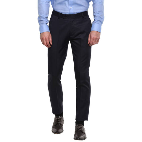 Blue Slim Fit Formal Trouser