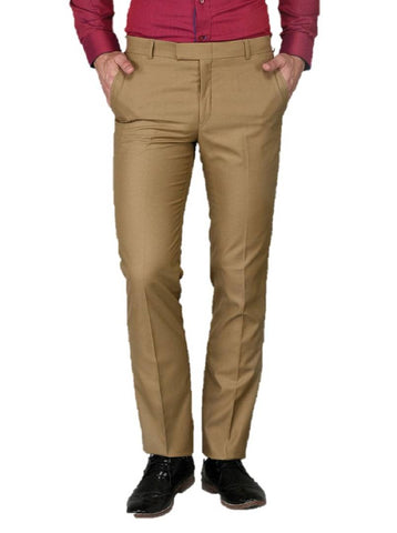Khaki Slim Fit Formal Trouser