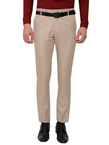Light Brown Slim Fit Formal Trouser