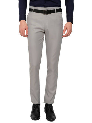 Light Grey Slim Fit Formal Trouser