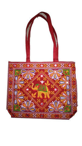 Cotton Embroidery Bag For Women's and Girl's