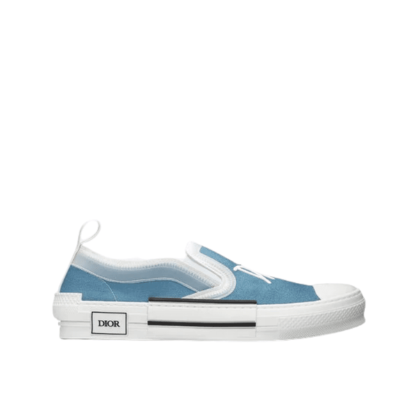 B23 Slip-On  Toile bleue à signature