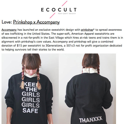 prinkshop shirt help save girls for ecocult with accompany