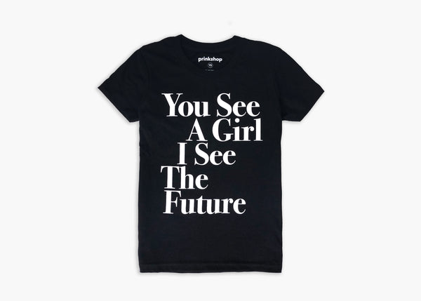 You See A Girl : Kids Unisex Toddler & Youth Tee - Black/White