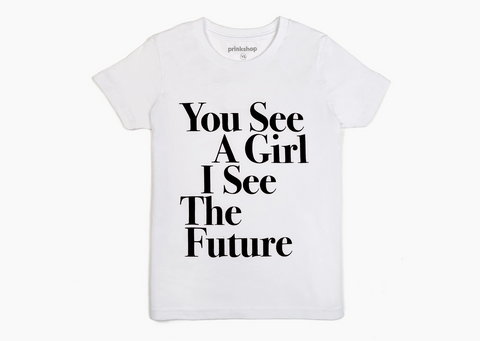 You See A Girl : Toddler & Youth Unisex Tee White/Black