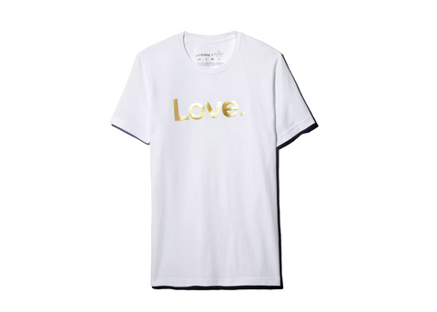 Love : Unisex Affirmation Tee - Gold