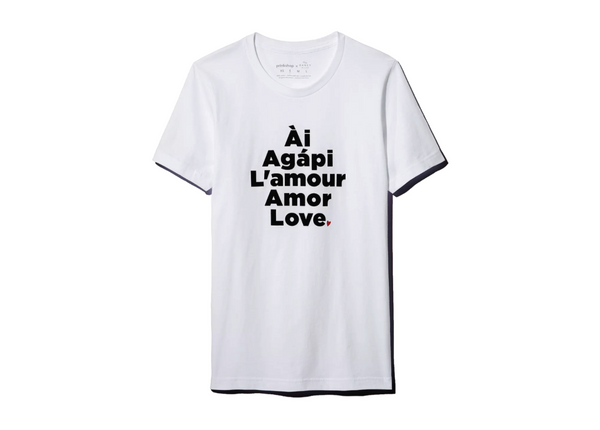 Love Languages : Unisex Affirmation Tee