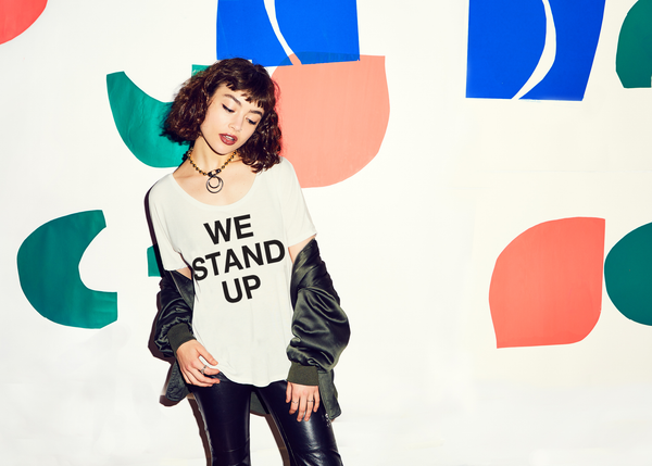 We Stand Up : Flowy Fashion Tee