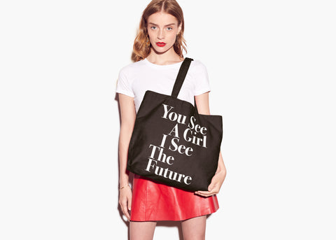 You See A Girl : Advocacy Tote - Black