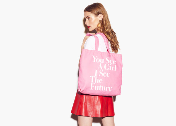 You See A Girl: Advocacy Tote - Pink